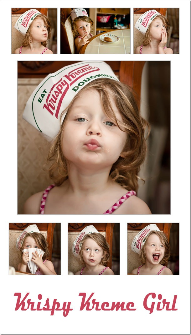 Krispy Kreme Girl by Raleigh, NC portrait photographer Steve Jackle